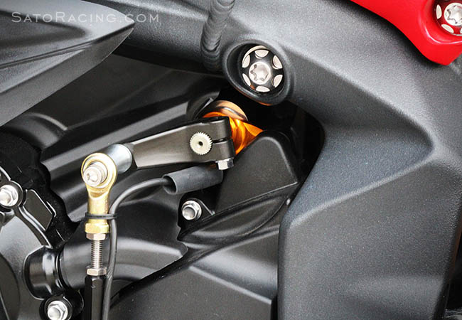 SATO RACING Triumph Daytona 675/765 ('13- ) / Street Triple '17- Shift Spindle Holder