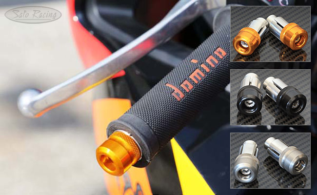 SATO RACING compact button-style 22mm diameter Handle Bar Ends