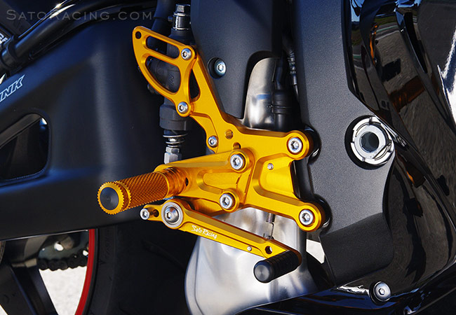 SATO RACING Rear Sets for 2009-20 Honda CBR600RR ABS [R]-side