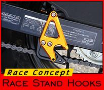 Stand Hooks + Sprocket Guard