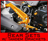 Rear Sets + Tandem Brackets