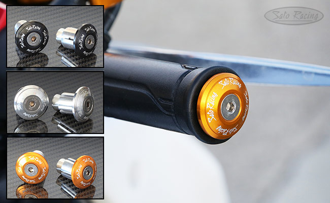 Sato Racing FLAT-style Handle Bar Ends for Ducati / KTM, etc.