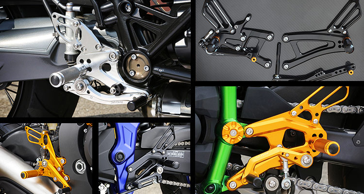 SATO RACING Rear Sets - group photo collage