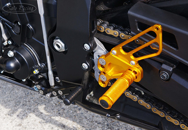 Sato Racing Rear Sets [L]-side in Gold for '11+ Suzuki GSX-R600/750