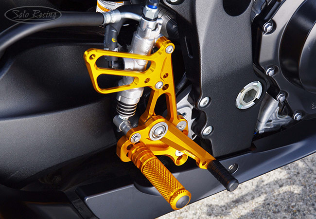 Sato Racing Rear Sets [R]-side in Gold for '11+ Suzuki GSX-R600/750