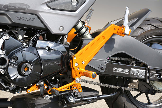 SATO RACING Honda Grom '16- Rear Sets + Tandem Brackets - [L]-side