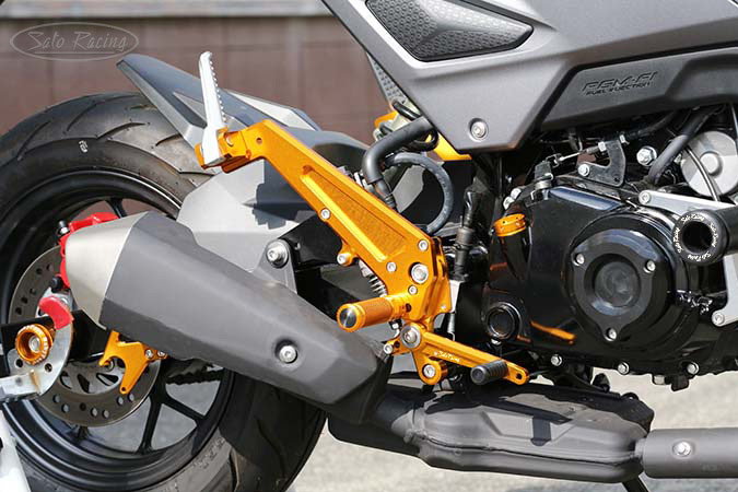 SATO RACING Honda Grom '16-'20 Rear Sets + Tandem Brackets - [R]-side
