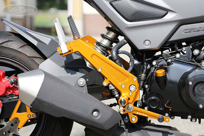 SATO RACING Honda Grom '16- Rear Sets + Tandem Brackets - [R]-side