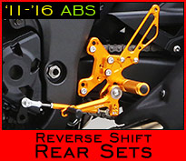ABS-compatible Reverse Shift Rear Sets