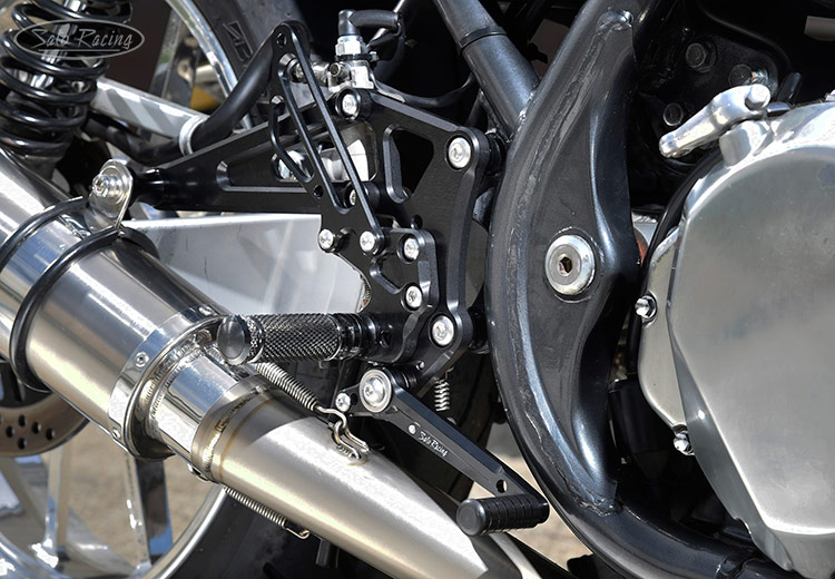 SATO RACING Kawasaki Zephyr 750 Rear Sets [L]-side in Black