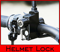Universal Handle Bar-mount Helmet Lock